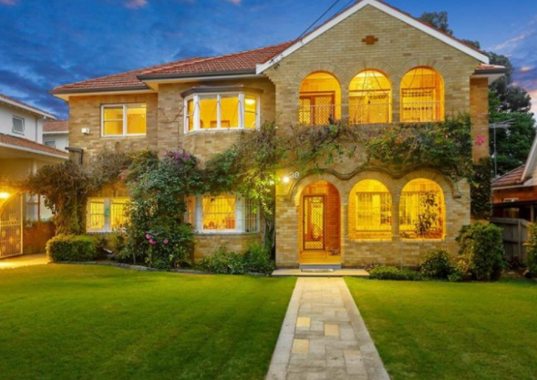 This six-bedroom home at 38 Newton Road, Strathfield, in Sydney's inner west, sold for $4,750,000 on the weekend, the top result for the week.